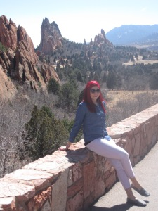 me at the Garden of the Gods