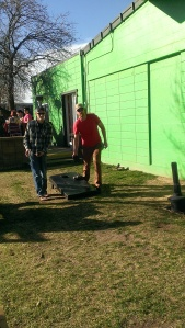 Ben & Seth playing corn hole