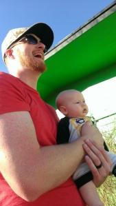 Ben holding Baby Bane